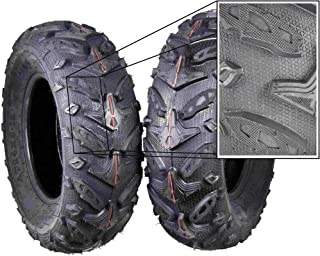 MASSFX Grinder Series ATV Dual Compound Tread Mud Sand Snow and Rock Tires (Two Front 24x8-12)