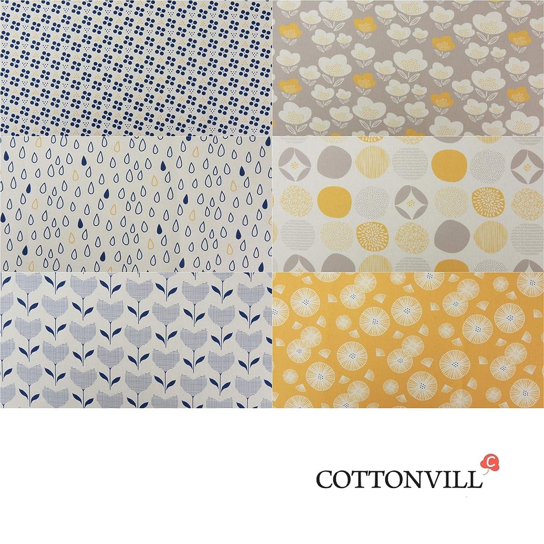 CCOTTONVILL Precut Fat Quarter 6pcs Mori Linen Blend Quilting Fabric