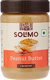 Amazon Brand - Solimo Peanut Butter , Crunchy , 500 g