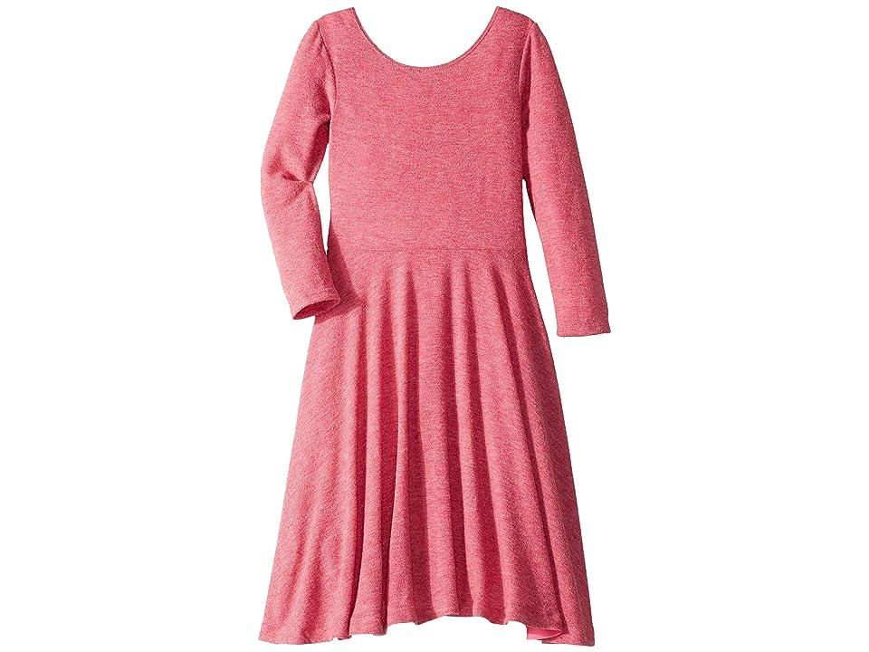 fiveloaves twofish Knit Ballerina Skater Dress (Big Kids) (Cranberry) Girl