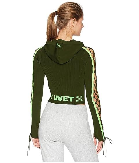 cordón Rifle Puma manga Fenty x Zip Green Rihanna de PUMA con por Hoodie suéter zfq4wxHyH7