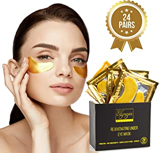 (24 PAIRS) Rejuvenating Under Eye Mask for Puffy Eyes - Dark Circles Under Eye Bags Treatment - 24k Gold Anti-Aging Under ...