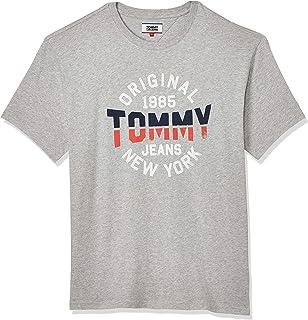 تومي هيلفيجر تي شيرت كم قصير للرجال , مقاس XL , رمادي