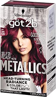Got2b Metallic Permanent Hair Color, M68 Dark Ruby