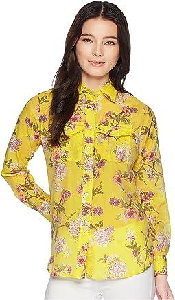 LAUREN Ralph Lauren Petite Floral Button Down Shirt