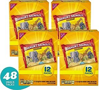 Barnum's Animals 12 Count Mini Animal Crackers Snack Packs, Original, 12.0 Ounce (Pack of 4)