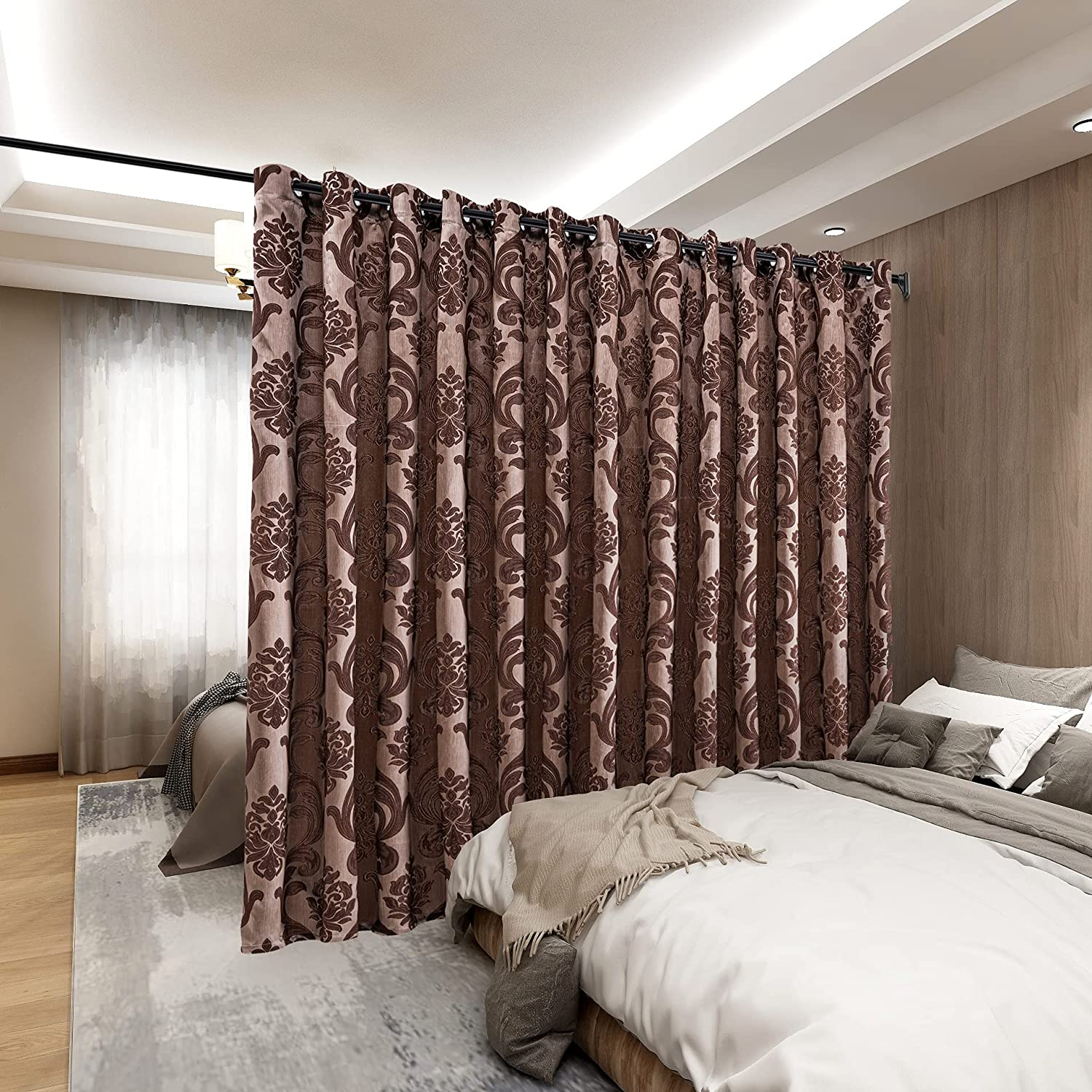 Attention brand NAPEARL Patio San Diego Mall Door Curtains Glass Damask for Sliding