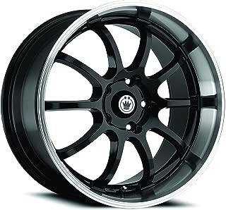 Konig Lightning Gloss Black Wheel with Machined Lip (17x7