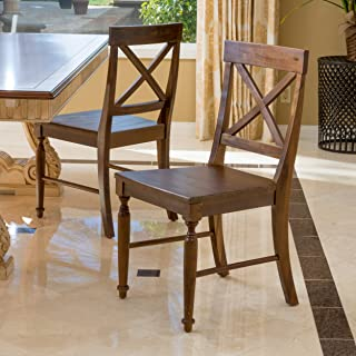 Christopher Knight Home Rovie Dark Oak Acacia Wood Dining Chairs