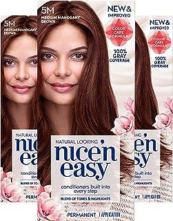 Sponsored Ad - Clairol Nice'n Easy Permanent Hair Color, 5M Medium Mahogany Brown, Pack of 3