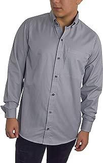 BOLTON TAILOR Camisa de Vestir Estilo Button-Down en Tela Mil Rayas