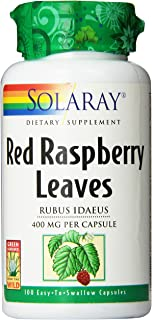 Solaray Red Raspberry Leaves Capsules, 400 mg | 100 Count