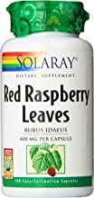 Solaray Red Raspberry Leaves Capsules, 400 mg, 100 Count