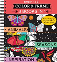 Download Book Color & Frame Coloring Book - 3 in 1 - Animals, Seasons & Inspiration PDF