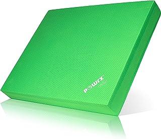 POWRX Balance Pad 40x34x5 cm inkl. Workout I Balanskudde Perfekt för träning av balans, stabilitet och koordination.