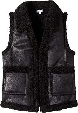 Pleather Sherpa Vest (Big Kids)