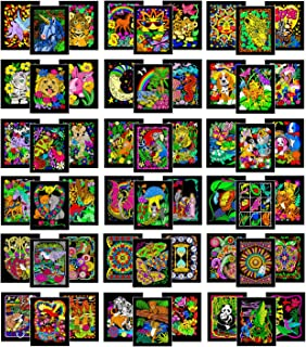 Stuff2Color Colossal Pack of 54 Fuzzy Velvet Coloring Posters (All Unique Designs)