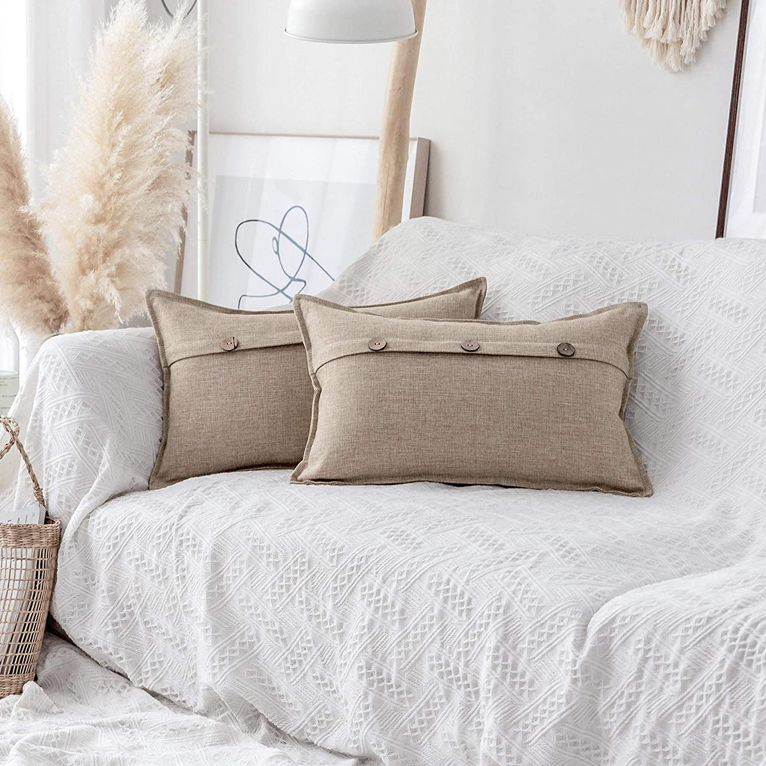 Credence Home Genuine Free Shipping Brilliant Linen Burlap Accent Throw Pillow Decorativ Covers