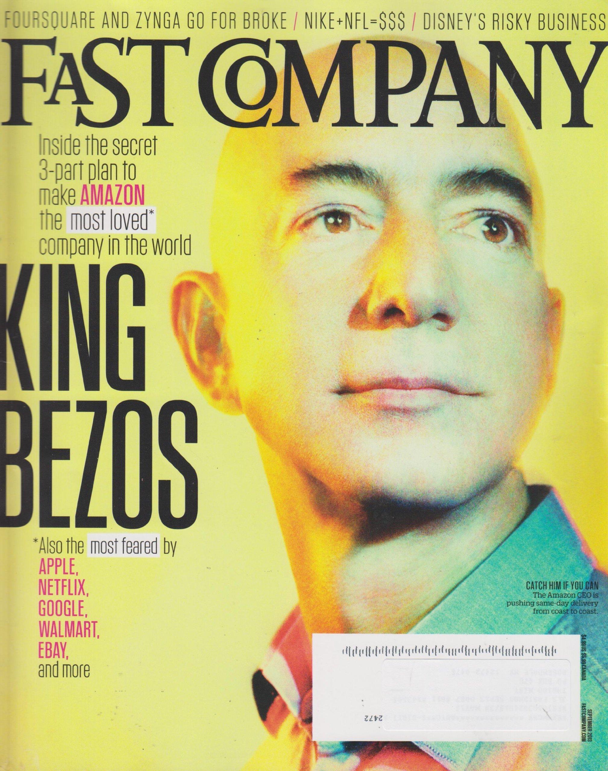 Fast Company September 2013 Amazon's Jeff Bezos