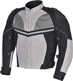 Men Motorcycle Textile Waterproof Windproof Jacket Black & Gray MBJ068