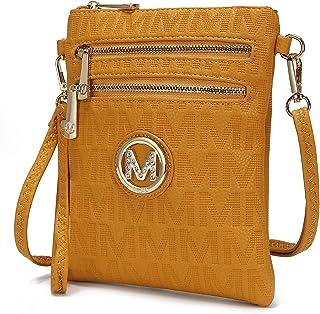 حقائب MKF طويلة تمر بالجسم للنساء، حزام معصم - حقيبة يد كتف من الجلد الصناعي - محفظة رسول كروسفر صغيرة