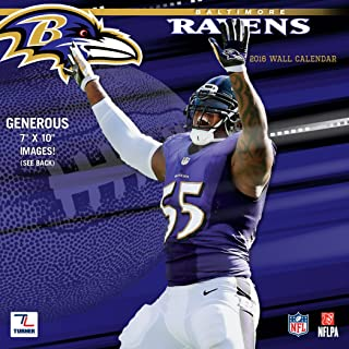 Turner Baltimore Ravens 2016 Mini Wall Calendar, September 2015-December 2016, 7 x 7