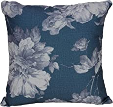 Cortesi Home Chintz Decorative Soft Velvet Square Accent Throw Pillow with Insert, 16 x 16, Blue