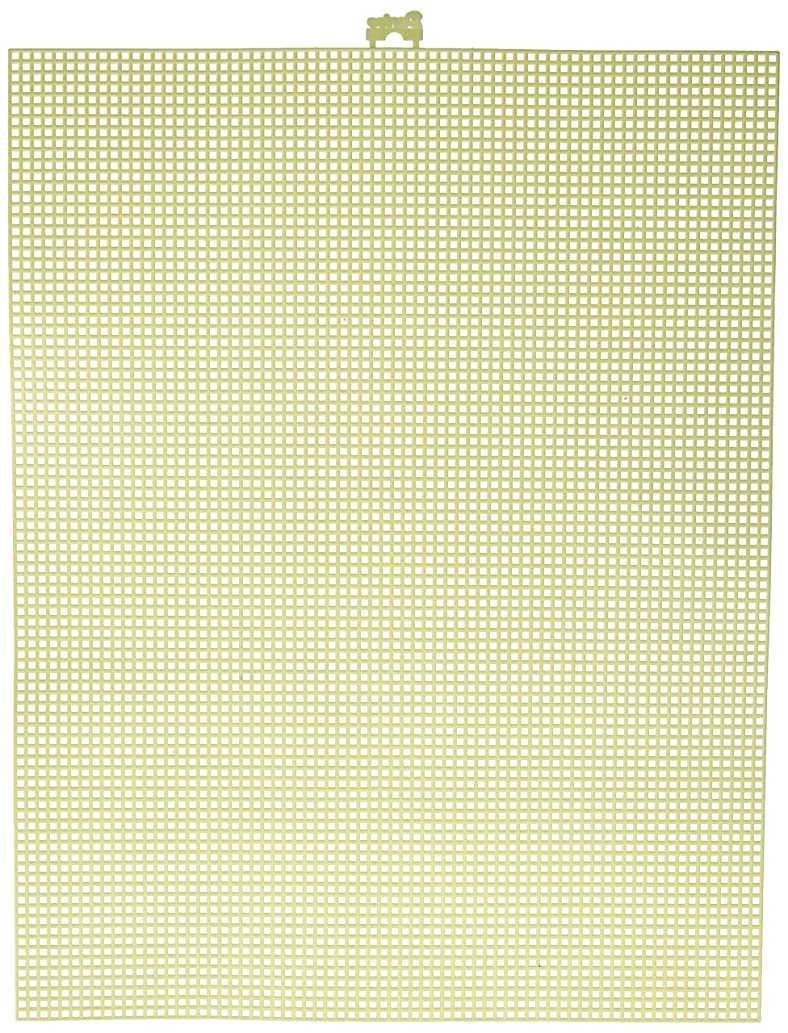 "Darice 7 Mesh Yellow Plastic Canvas – Create a Variety of Fun Plastic Canvas Crafts Including Bookmarks, Picture Frames, Pins and More – 1 Sheet, 7 Holes Per Inch, 10.5""x13.5"" Per Sheet"