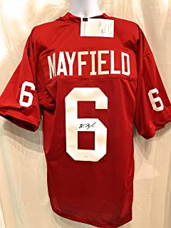 Baker Mayfield Oklahoma Sooners Signed Autograph Custom Jersey JSA Witnessed Certified