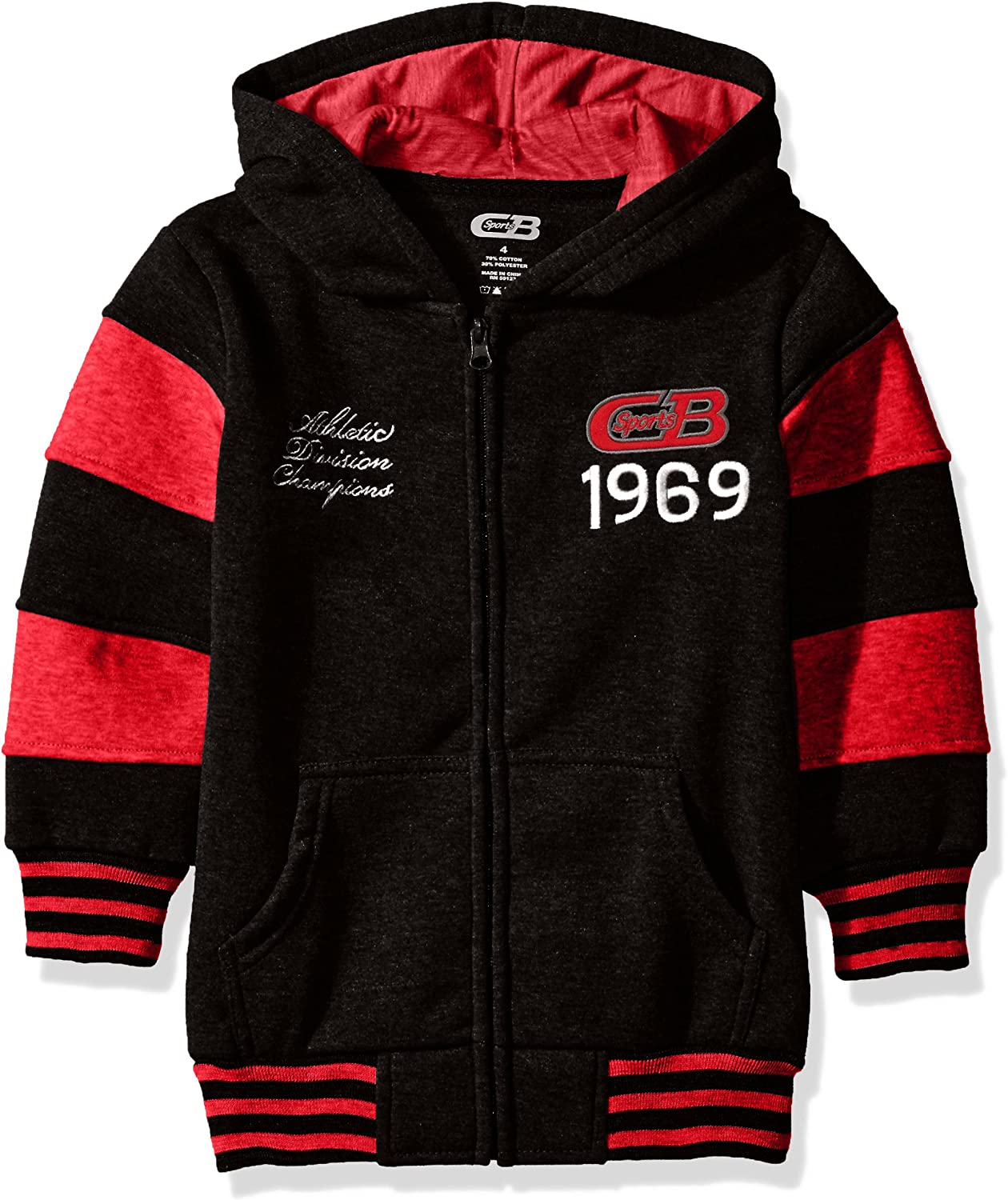 Bombing new work CB Sports Boys' Fleece Sleeves Import with Striped Hoodie
