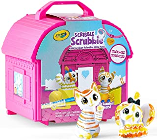 Crayola Scribble Scrubbie Pets, Backyard Playset, Color & Wash Creative Toy, Gift for Kids, Age 3, 4, 5, 6, Multi