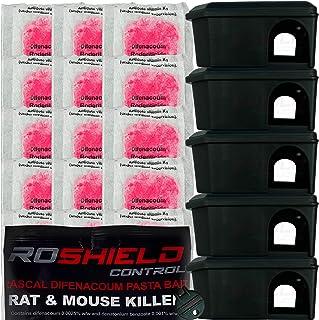 comprar comparacion Cajas de cebo y alimento para control de ratones, seguros para niños y mascotas, 5 cajas y 20 bolsitas