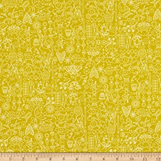 Andover Sun Print 2019 Collection Chartreuse Fabric Fabric by the Yard
