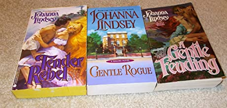 Johanna Lindsey: 3 Book Set: Softcover: A Gentle Feuding: Gentle Rogue: Tender Rebel: Very Good.