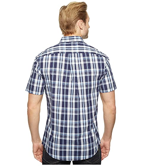 Plaid Pocket Single U Print or Striped ASSN Shirt Sport Fit POLO S Slim xx6qUpI