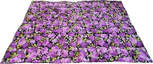 """CUSHYSTORE Stove Glass Top Cover Extra Large Counter Mat Heat Resistant Scalding Protector 21""""x28"""" (Purple Flower)"""