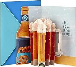 Hallmark Paper Wonder Displayable Pop Up Birthday Card (Beer)