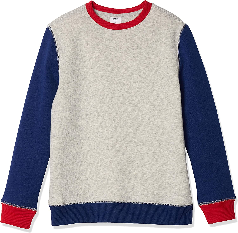 Amazon Essentials Boys' Fleece Crew-Neck Sweatshirts