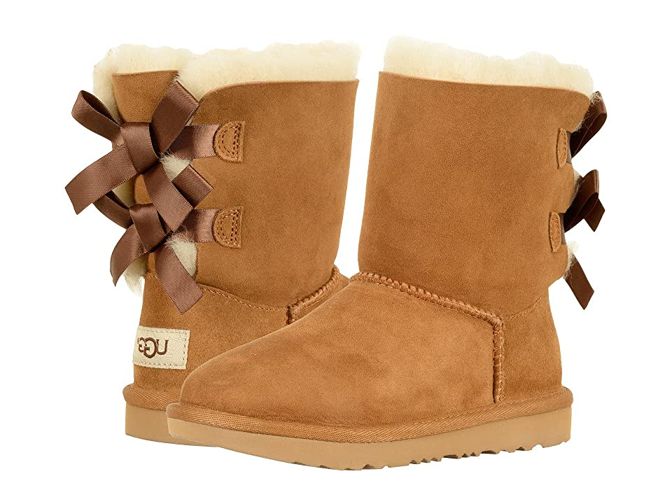 UGG Kids Bailey Bow II (Little Kid/Big Kid) (Chestnut) Girls Shoes