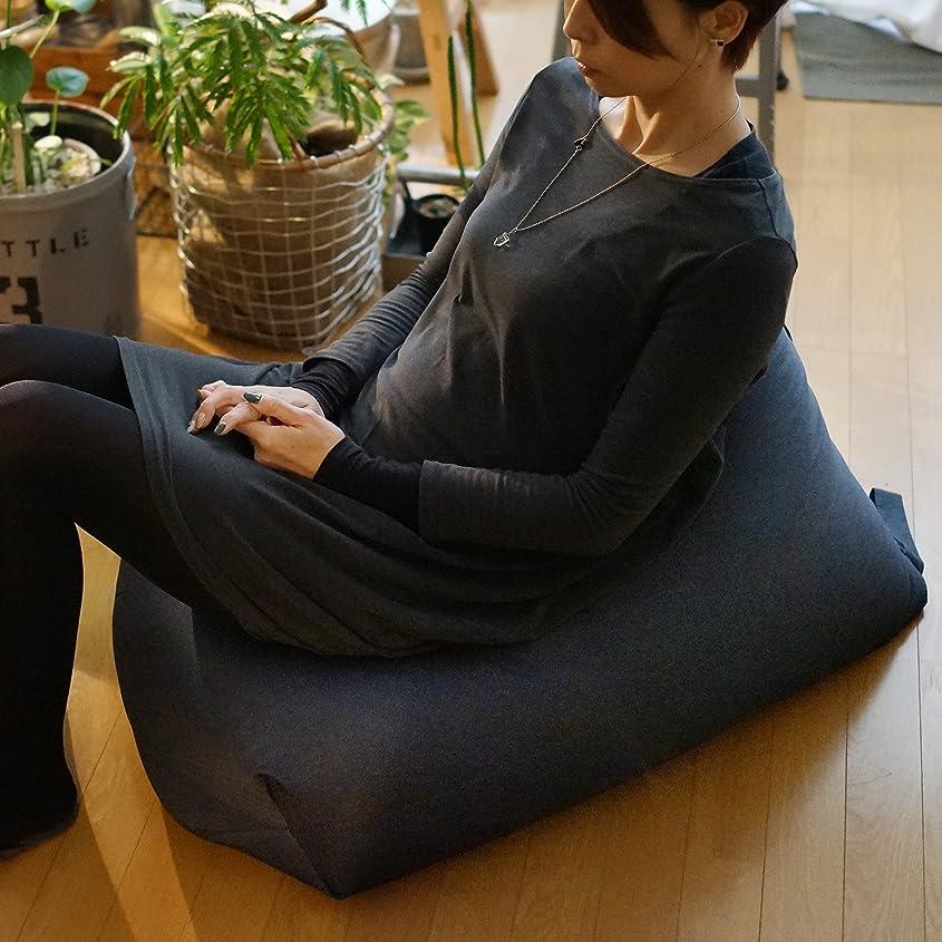 無知ガイダンスバックグラウンドNYブルックリン風ビーズクッション Rg デニム調 [インディゴ(撥水加工)] ソファ 座椅子 日本製