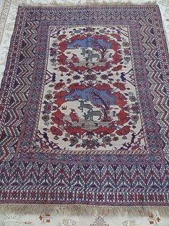 Handcraftigo Size:6.2 ft by 5 ft Handmade Best Afghan Tribal Vintage Sumak Tree of Life Kilim