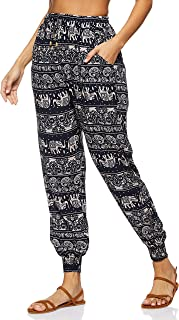 SHADOW Women's Bohemian Elephant Printed Loose Harem Pant