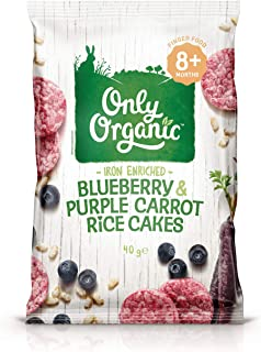 Only Organic Blueberry &Purple Carrot Rice Cakes 8+ Months - 40g