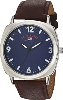 Men's Analog-Quartz Watch with Leather-Synthetic Strap,...