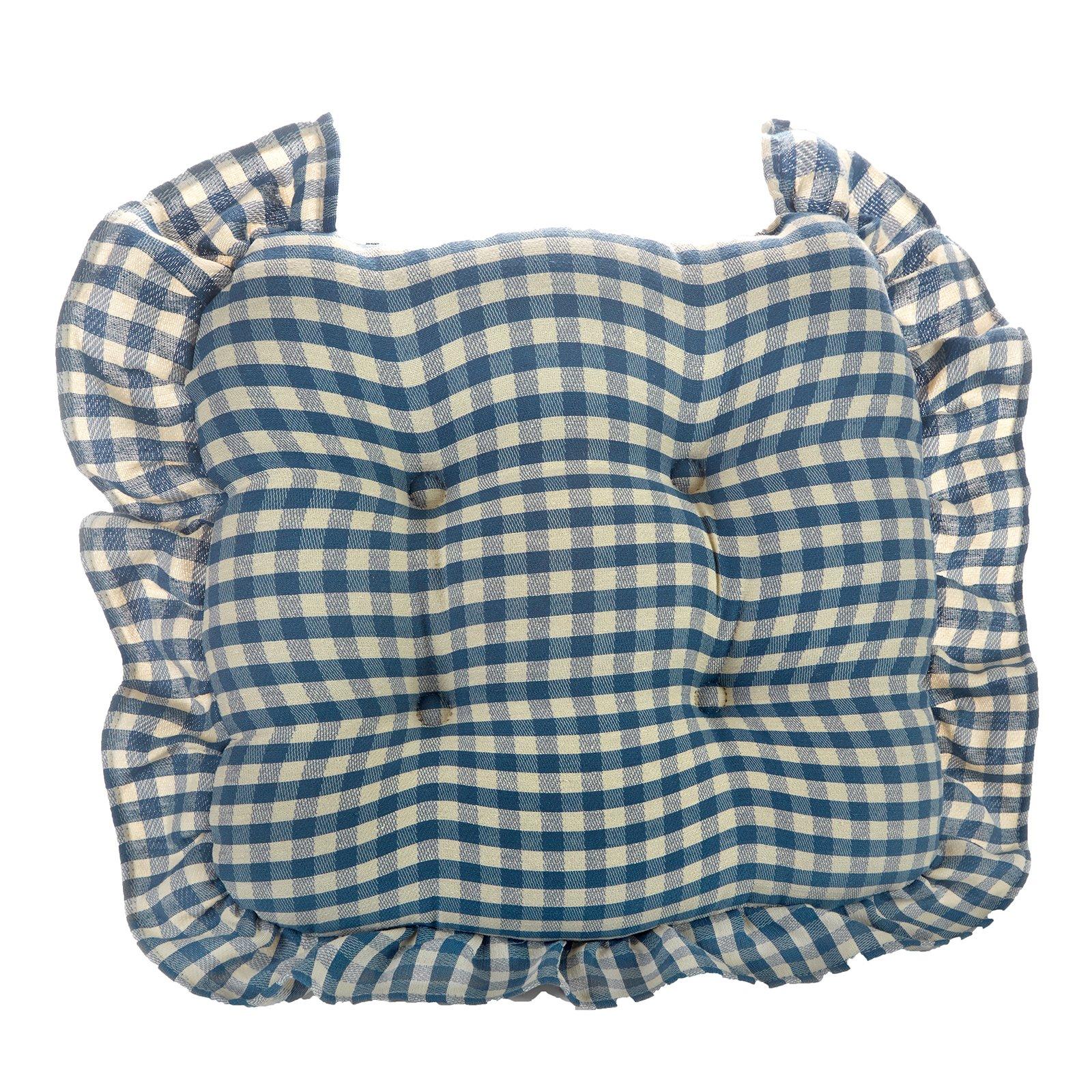 Gingham Chair Cushion Chair Pads Amp Cushions