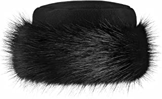 Futrzane Faux Fur Hat with Fleece Winter Ladies Women