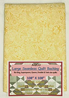Quilt Backing, Large, Seamless, from AQCO, Yellow, C49662-201