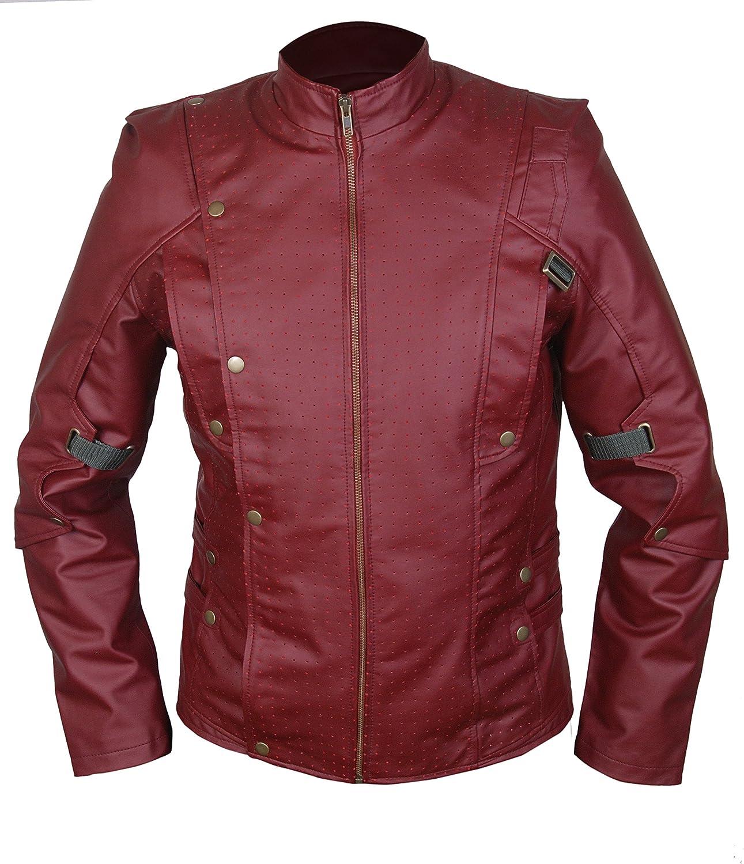 Flesh & Hide F&H Men's Maroon Superhero Vol 2 Galaxy Genuine Leather Jacket