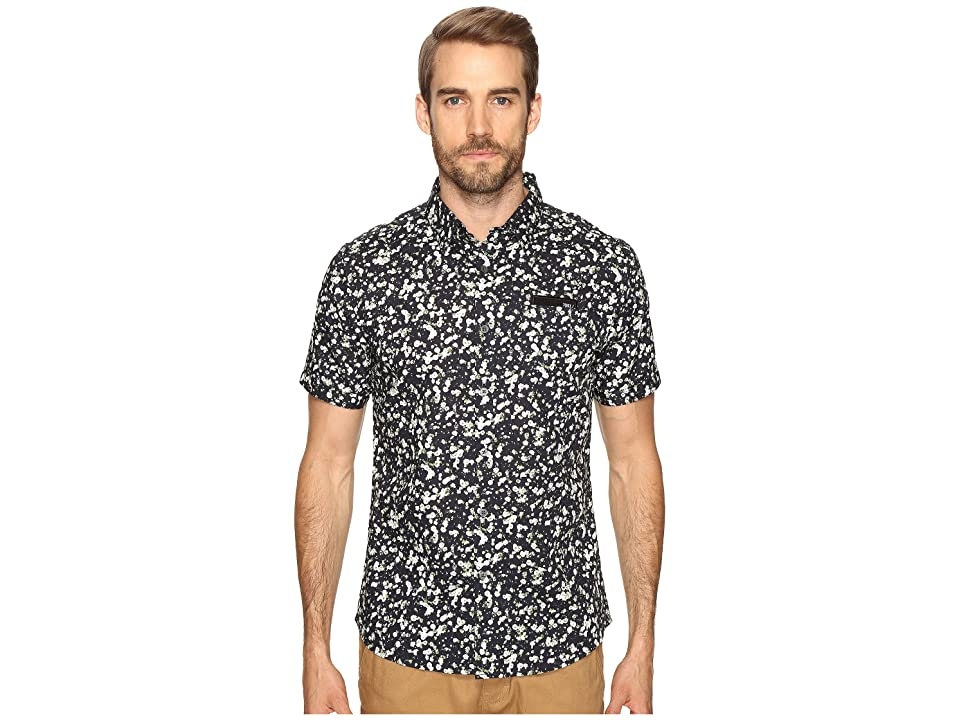 Image of 7 Diamonds Breath of Air Short Sleeve Shirt (Midnight) Men's Short Sleeve Button Up