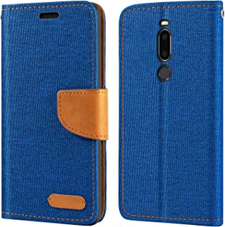 Meizu X8 fodral, plånbok i Oxford läder med mjuk TPU-baksida fodral magnet flip fodral för Meizu X8